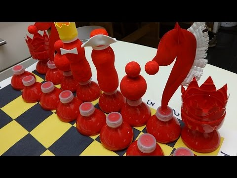 Plastic Bottle Art and Craft: Chess out of Plastic Bottles