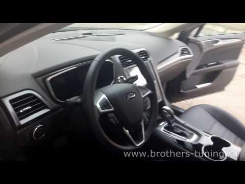 """Чехлы на Ford Mondeo 5 Titanium, серии """"Premium"""" - серая строчка"""