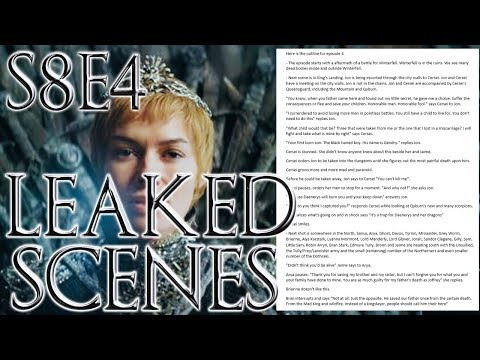Season 8 Episode 4 Leaked Outline ! | Game of Thrones Season 8 Episode 4