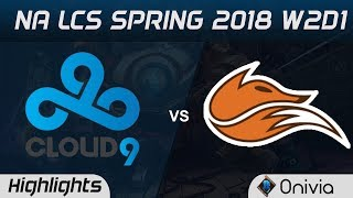Video C9 vs FOX Highlights NA LCS Spring 2018 W2D1 Cloud9 vs Echo Fox by Onivia MP3, 3GP, MP4, WEBM, AVI, FLV Juni 2018