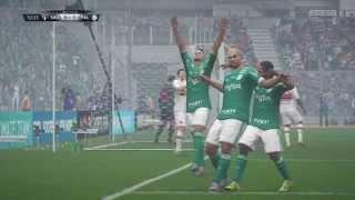 FIFA16 SÃO PAULO F.C X PALMEIRAS JOGO COMPLETO PS4