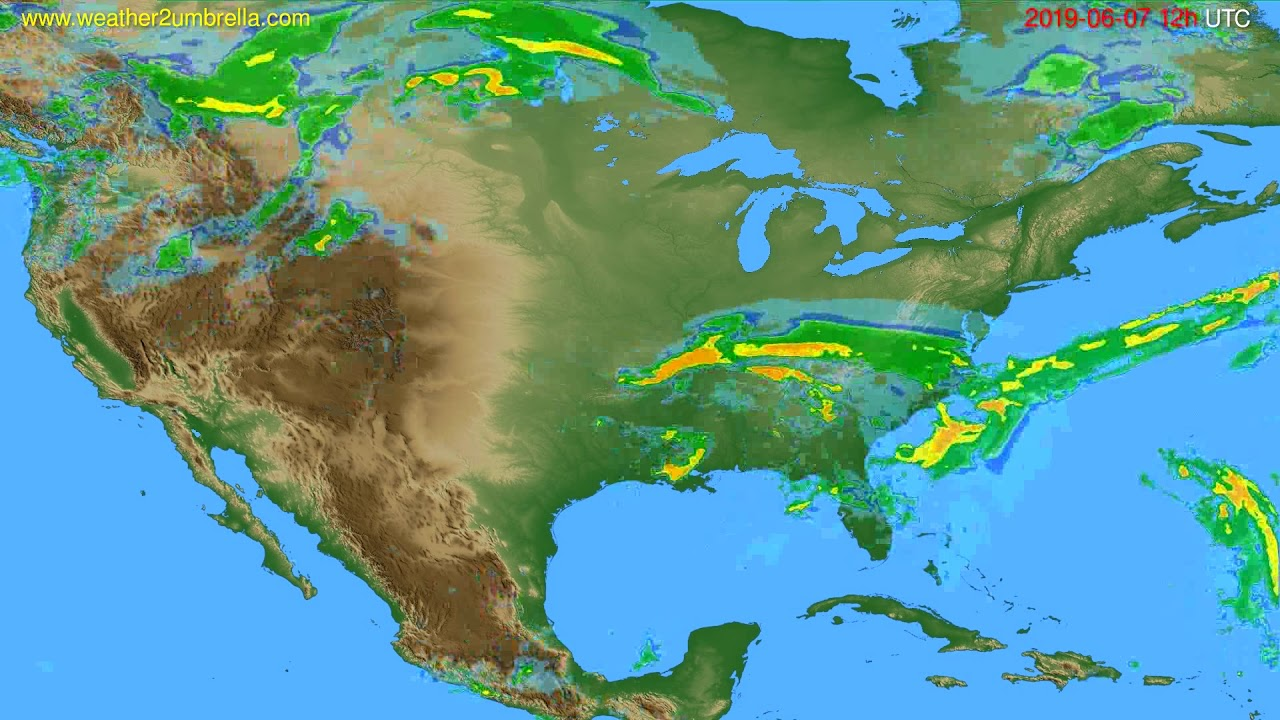 Radar forecast USA & Canada // modelrun: 00h UTC 2019-06-07