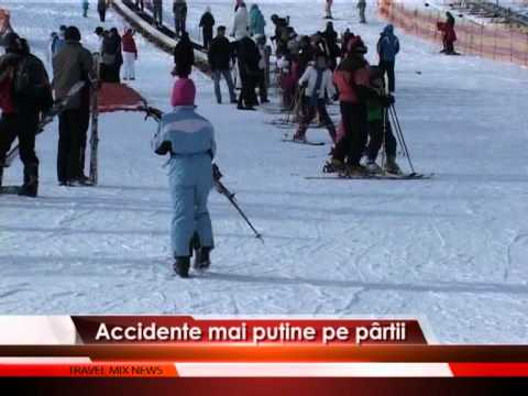 Accidente mai puţine pe pârtii