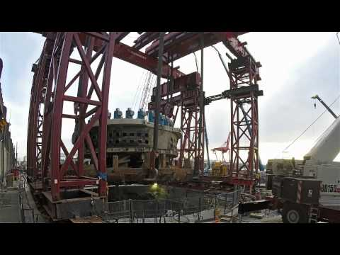 Bertha's front end rises to the surface