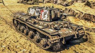War Thunder KV-1B добиваем до 1000 уничтоженных