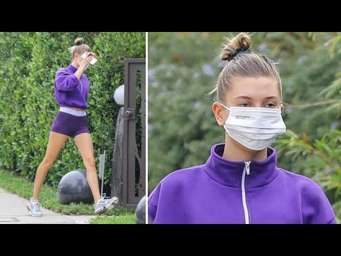 Hailey Baldwin Showcases Her Supermodel Stems Before Her Afternoon Sweat Session