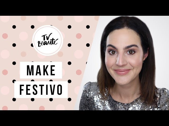 Make para Festas de Fim de Ano com Brilho - TV Beauté | Vic Ceridono - Victoria Ceridono