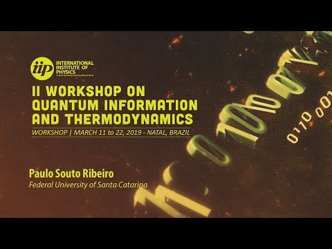 Experimental Quantum Thermodynamics with Optical Setups - Paulo Souto Ribeiro