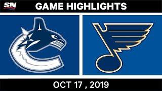 NHL Highlights | Canucks vs Blues – Oct 17 2019 by Sportsnet Canada