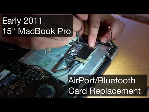 , title : 'Early 2011 MacBook Pro - AirPort/Bluetooth Card Replacement for Handoff & Continuity - Timelapse'
