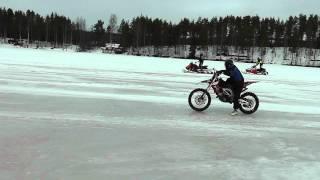 10. Aprilia SXV 450 vs Yamaha RX Warrior (145 hp) vs Lynx SC 600 (110 hp) on ice