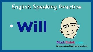 Will - For The Near Future | English Speaking Practice | ESL | Learn the Basics