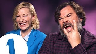 """Video """"You fell in a gopher hole!"""": Cate Blanchett & Jack Black answer stupid questions MP3, 3GP, MP4, WEBM, AVI, FLV Oktober 2018"""