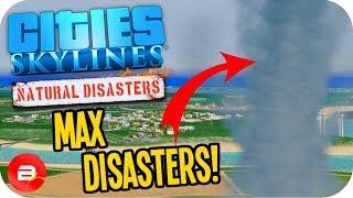 Cities Skylines •MAX RANDOM DISASTERS!!!• #1 Cities: Skylines Green Cities Natural Disasters