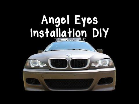 BMW E46 Angel Eyes Install DIY