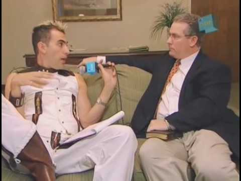 bruno - Sacha Baron Cohen poses as Austrian Gay TV host Bruno, and interviews a pastor who 