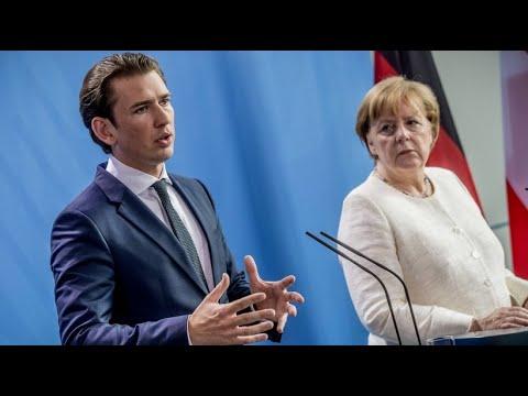 Merkel und Kurz wollen besseren Schutz der EU- ...