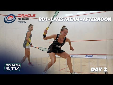 Oracle NetSuite Squash Open 2019 - Rd 1 Livestream - Day 2 Afternoon Session
