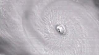 Imágenes satelitales del ojo del huracán María que atraviesa Puerto Rico