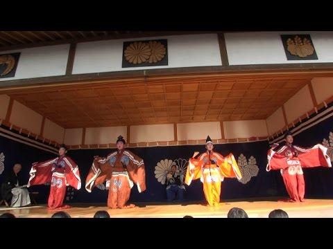 幸若舞2015 二番 日本書紀 大江小学校六年生 大江天満神社
