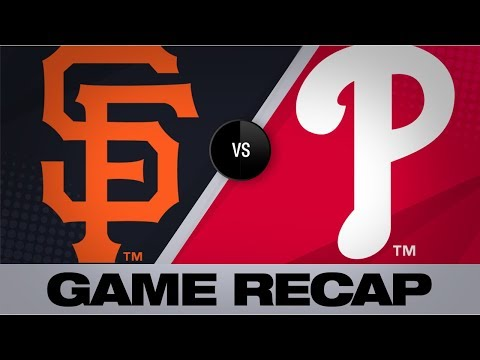 Video: 3-homer 6th, Samardzija lead Giants | Giants-Phillies Game Highlights 7/31/19