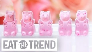 How to DIY Rosé Wine Gummy Bears | Eat the Trend by POPSUGAR Food