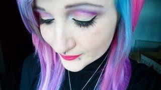 Pink&Gold Eye Makeup. - YouTube