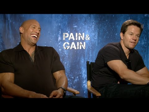 wahlberg - Emmy winner Jake Hamilton sits down with the stars of PAIN & GAIN -- Mark Wahlberg, Dwayne Johnson, Anthony Mackie, Tony Shaloub, Ken Jeong and Bar Paly -- o...