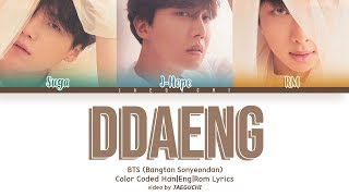 Video BTS RM, SUGA, J-HOPE - DDAENG (땡) (Color Coded Lyrics Eng/Rom/Han+Español) MP3, 3GP, MP4, WEBM, AVI, FLV Agustus 2018
