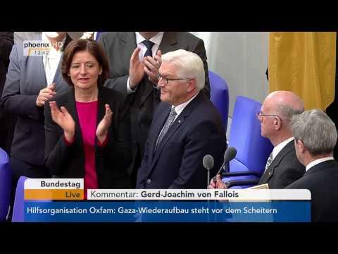 Vereidigung und Rede des neuen BundesprГsidenten Frank-Walter Steinmeier am 22.03.2017