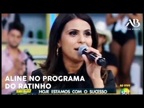 Mensagem de Aline Barros no Programa do Ratinho