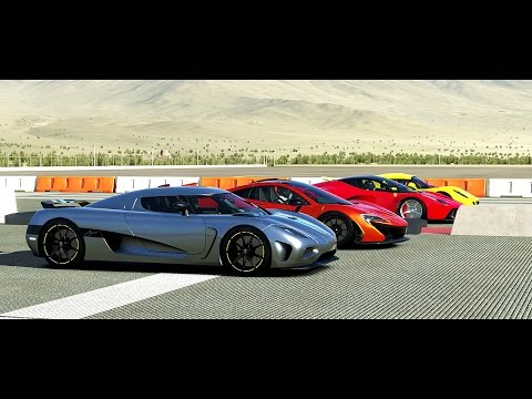 forza 5 drag race: agera vs laferrari vs p1 vs venom gt