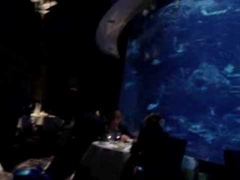 Al Mahara - Me and Janet eating very expensive food under the sea.