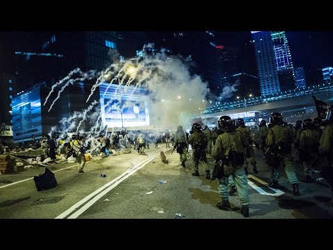 tear - Sept. 29 (Bloomberg) – Police in Hong Kong fired tear gas and pepper spray at pro-democracy protesters who have jammed streets to protest new election rules allowing the Chinese government...