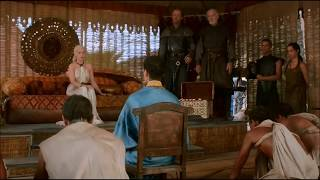 A Scene from HBO's Game of Thrones Season 3 Episode 7 Depicting Daenerys Targaryen and her Dragons. (Part 1) ...