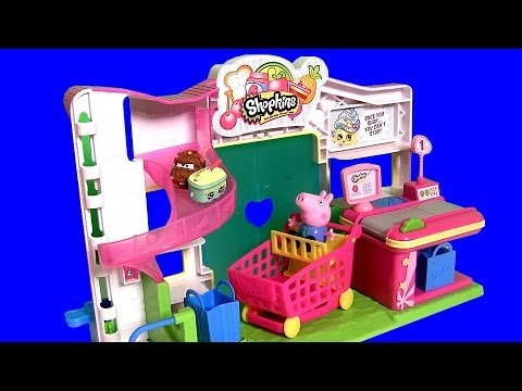 Mart - ToyChannel DCToysCollector presents this Shopkins Small Mart Store with Peppa Pig at the Supermarket with Disney Princess Sofia the First. Shop till you drop...