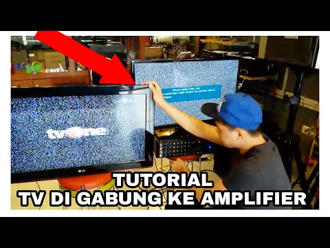 Tutorial Cara Gabung TV Ke Amplifier