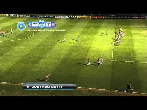 Gol de Gotti. Arsenal 1 – Instituto 1. 16 avos. de final. Copa Argentina