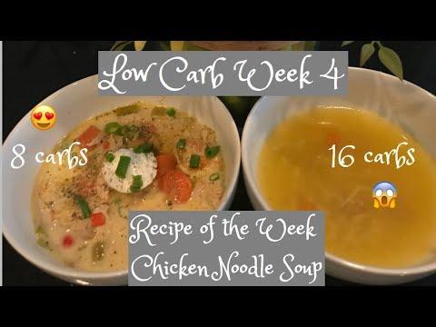 Atkins diet - Week 4 Low Carb Keto Atkins App Recipe Chicken Noodle Soup