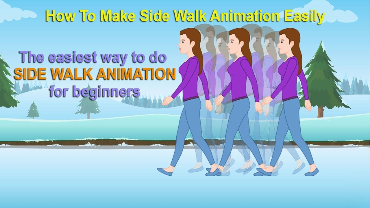 side walk 2d animation walk cycle tutorial   flash fun