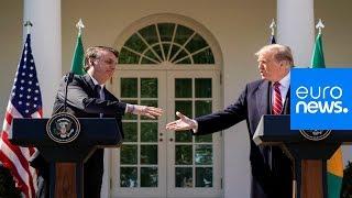 Donald Trump and Jair Bolsonaro hold press conference