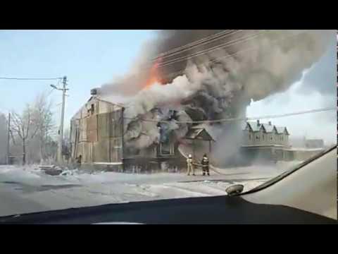 Пожар, ул. Трассовиков, Советский, ХМАО-Югра