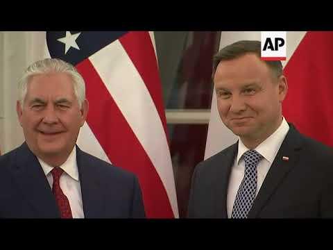 US Secretary of State Tillerson meets Polish president