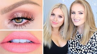 Perfect Peach Makeup ♡ Get Ready With Me & Sally Jo! by Shaaanxo