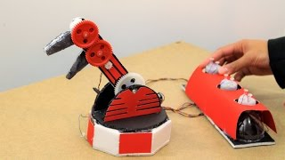 A DIY robotic arm grabber. An innovative and simple robotic arm controlled by a homemade controller. A great build for makers and aspiring engineers.Hackbeat by Kevin MacLeod is licensed under a Creative Commons Attribution license (https://creativecommons.org/licenses/by/4.0/)Source: http://incompetech.com/music/royalty-free/index.html?isrc=USUAN1100805Artist: http://incompetech.com/