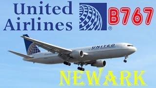 United Airlines Boeing 767-300 Landing at Newark Liberty International Airport -  FULL HD!