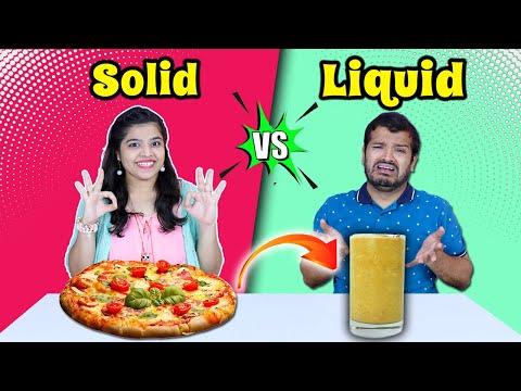 Solid Vs Liquid Food Challenge | Food Challenge India | Hungry Birds