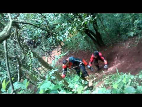 Trilheiros tatu na trilha em Barbosa ferraz