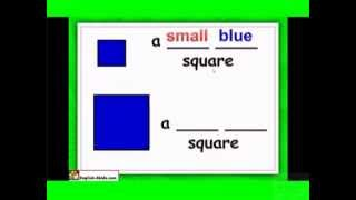 Shapes and colours lesson, rectangle, square  star, English for kids
