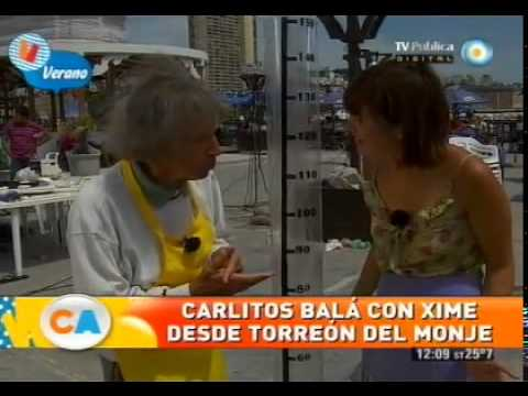 Competencia de alfajores y chupetómetro con Carlitos Balá